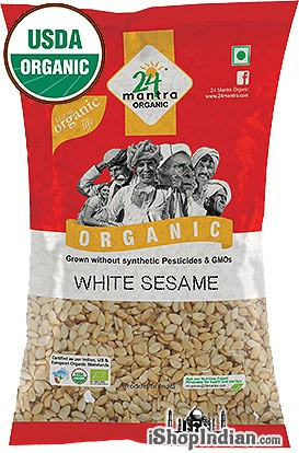 24 Mantra Organic White Sesame Seeds