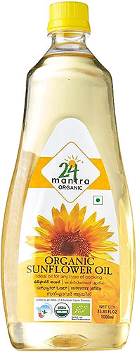 24 Mantra Organic Sunflower Oil - 1 liter