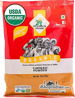24 Mantra Organic Turmeric Powder - 7 oz