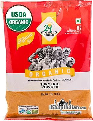 24 Mantra Organic Turmeric Powder - 7 oz