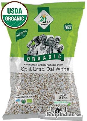 24 Mantra Organic Urad Dal Washed - 2 lbs