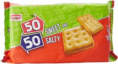 Britannia 50-50 Sweet & Salty Crackers - Family Pack