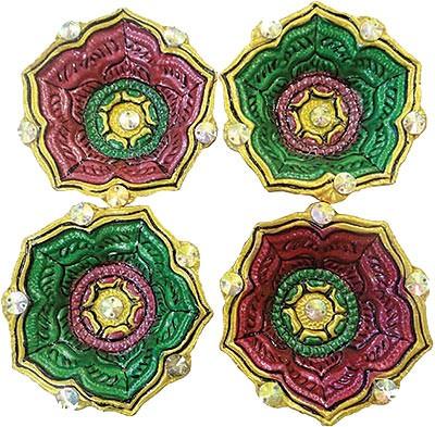 Leaf Diwali Diya - 4 Pack (#89874)