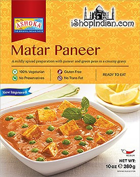 Ashoka Matar Paneer (Ready-to-Eat) - BUY 1 GET 1 FREE!