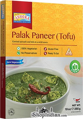 Ashoka Palak Paneer (Tofu) Vegan (Ready-to-Eat) - BUY 1 GET 1 FREE!