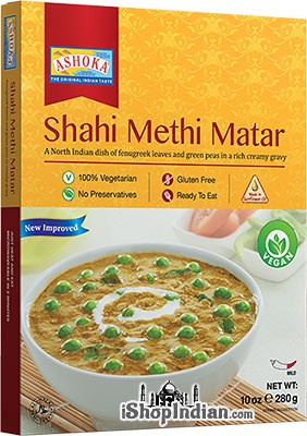Ashoka Shahi Methi Matar (Vegan) (Ready-to-Eat) - BUY 1 GET 1 FREE!