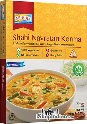 Ashoka Shahi Navratan Korma (Vegan) (Ready-to-Eat) - BUY 1 GET 1 FREE!