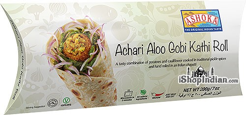 Ashoka Achari Aloo Gobi Kathi Roll (FROZEN)