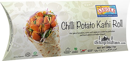 Ashoka Chilli Potato Kathi Roll (FROZEN)