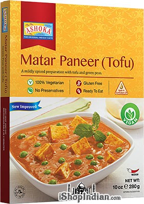 Ashoka Matar Paneer (Tofu) Vegan (Ready-to-Eat) - BUY 1 GET 1 FREE!