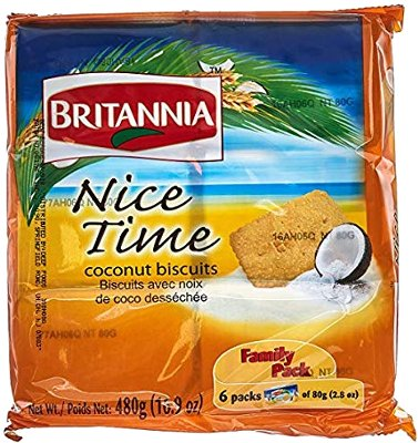 Britannia Nice Time Coconut Biscuits - Pack of 6 - Family Pack