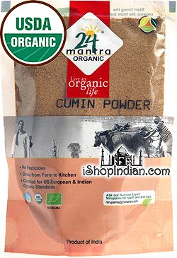 24 Mantra Organic Cumin Powder - 3.5 oz