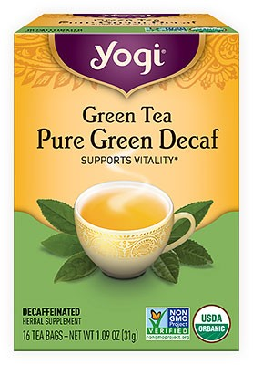 Yogi Green Tea - Pure Green Decaf Tea