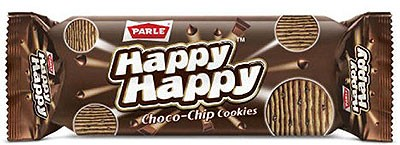 Parle Happy Happy Choco-Chips Cookies (Pack of 4)