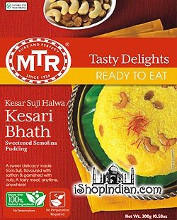 MTR Kesaribath / Sweetened Wheat Pudding (Ready-to-Eat)