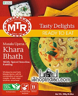 MTR Kharabath / Masala Upma - Spiced Semolina Dish (Ready-to-Eat)