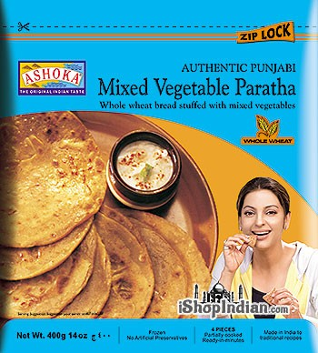 Ashoka Mixed Vegetable Paratha - 4 pcs (FROZEN)