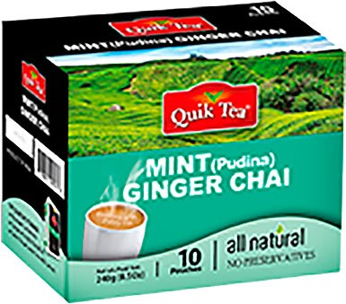 Quik Tea - Instant Mint Ginger Chai (10 Pack)