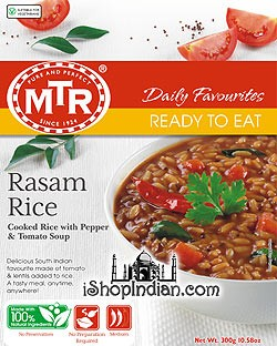 MTR Rasam Rice - Rice with Pepper and Tomato Soup (Ready-to-Eat)