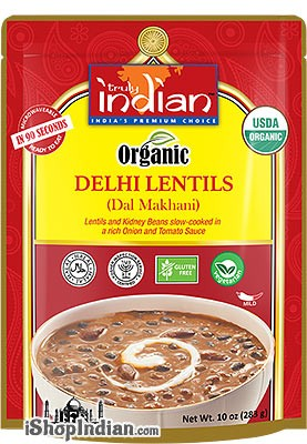 Truly Indian Organic Delhi Lentils (Dal Makhani) (Ready-to-Eat)