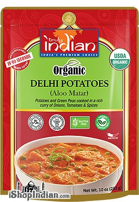 Truly Indian Organic Delhi Potatoes (Aloo Matar) (Ready-to-Eat)