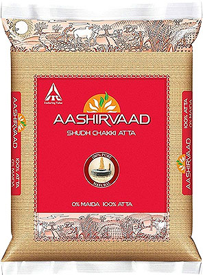 Aashirvaad 100% Whole Wheat Flour (atta) - 4.4 lbs