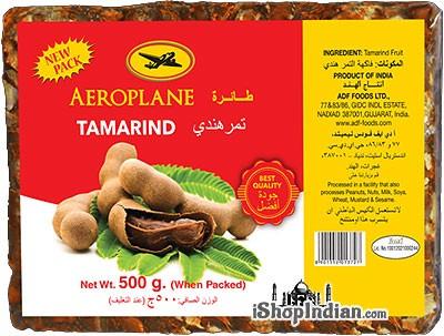 Aeroplane Brand Tamarind Slab (Imli) - 500 gms