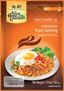 Asian Home Gourmet Indonesian Nasi Goreng (Sambal Fried Rice) Spice Paste