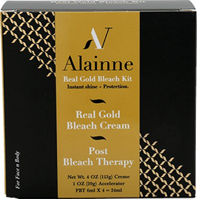 Alainne Real Gold Bleach Kit (Instant Shine + Protection) For Face & Body