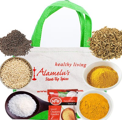 Alamelu's Start-Up Spice Package - 7 Indian Spice Kit