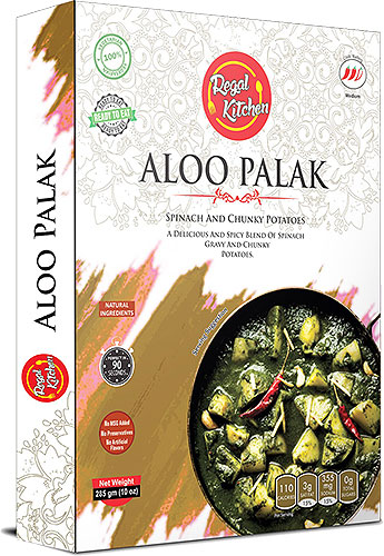 Regal Kitchen Aloo Palak (Ready-to-Eat) - BUY 2 GET 1 FREE!