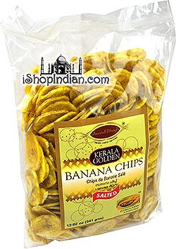 Anand Bhogh Kerala Golden Banana Chips - Salted - 12 oz