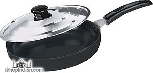 "Antiquity Hard Anodized Deep Frypan - Large - 10 1/2"" (With Stainless Steel Lid)"