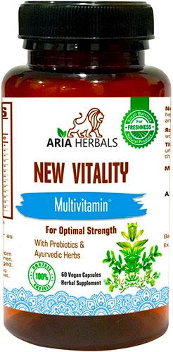 Aria Herbals Multivitamin - For Optimal Strength - 60 caps
