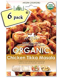 Arora Creations Organic Chicken Tikka Masala - 6 PACK