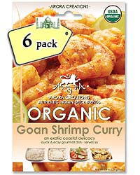 Arora Creations Organic Goan Shrimp and Fish Curry Masala - 6 PACK