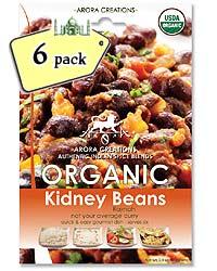 Arora Creations Organic Kidney Beans (Rajmah) Masala - 6 PACK