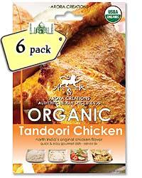 Arora Creations Organic Tandoori Chicken Masala - 6 PACK