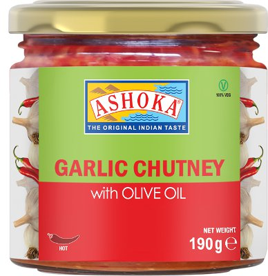 Ashoka Garlic Chutney with Olive Oil