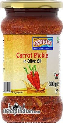 Ashoka Carrot Pickle in Olive Oil