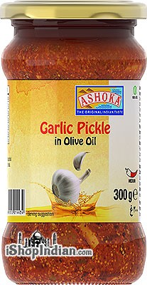 Ashoka Garlic Pickle in Olive Oil