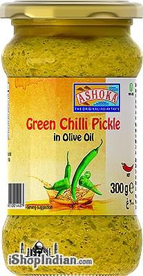 Ashoka Green Chilli Pickle in Olive Oil
