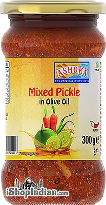 Ashoka Mixed Pickle in Olive Oil