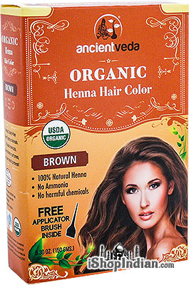 Ancient Veda Organic Henna Hair Color- Brown