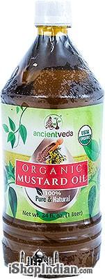 Ancient Veda Organic Mustard Oil -  1 Liter