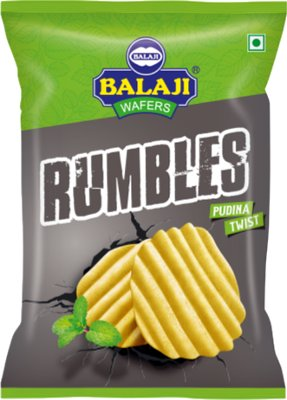 Balaji Rumbles Potato Chips - Pudina Twist