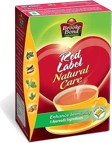 Brooke Bond Red Label Natural Care Tea - 500 gms