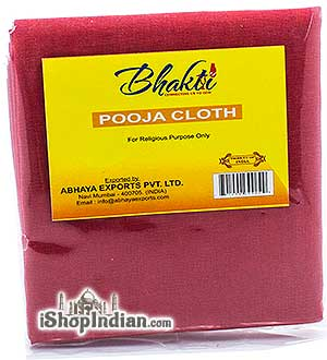 Bhakti Pooja Cloth - Red