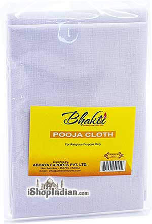 Bhakti Pooja Cloth - White