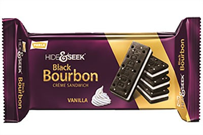 Parle Hide & Seek Black Bourbon Creme Sandwich - Vanilla